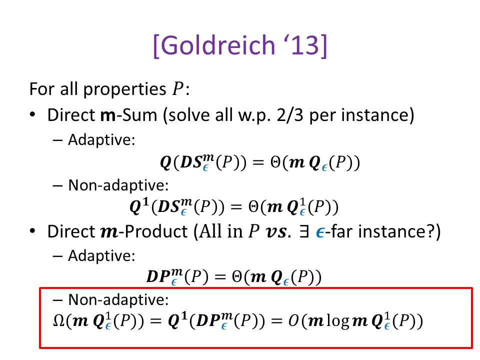 [Goldreich '13]
