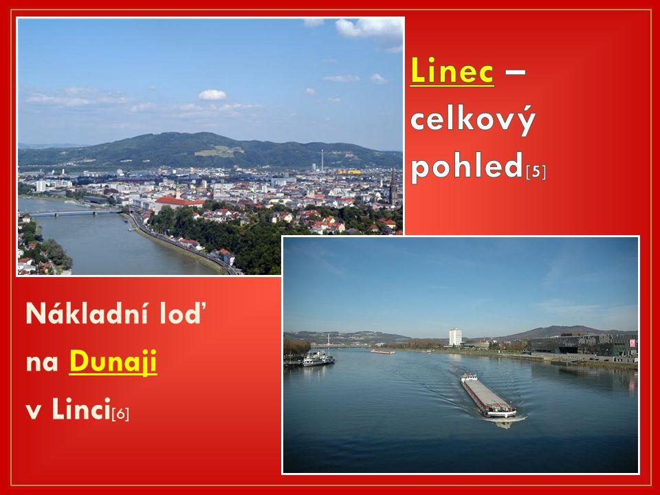 Nákladní loď na Dunaji v Linci [6]