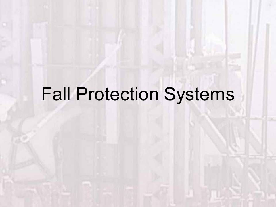 This presentation will discuss: Why we need Fall Protection & The systems available to protect employees.