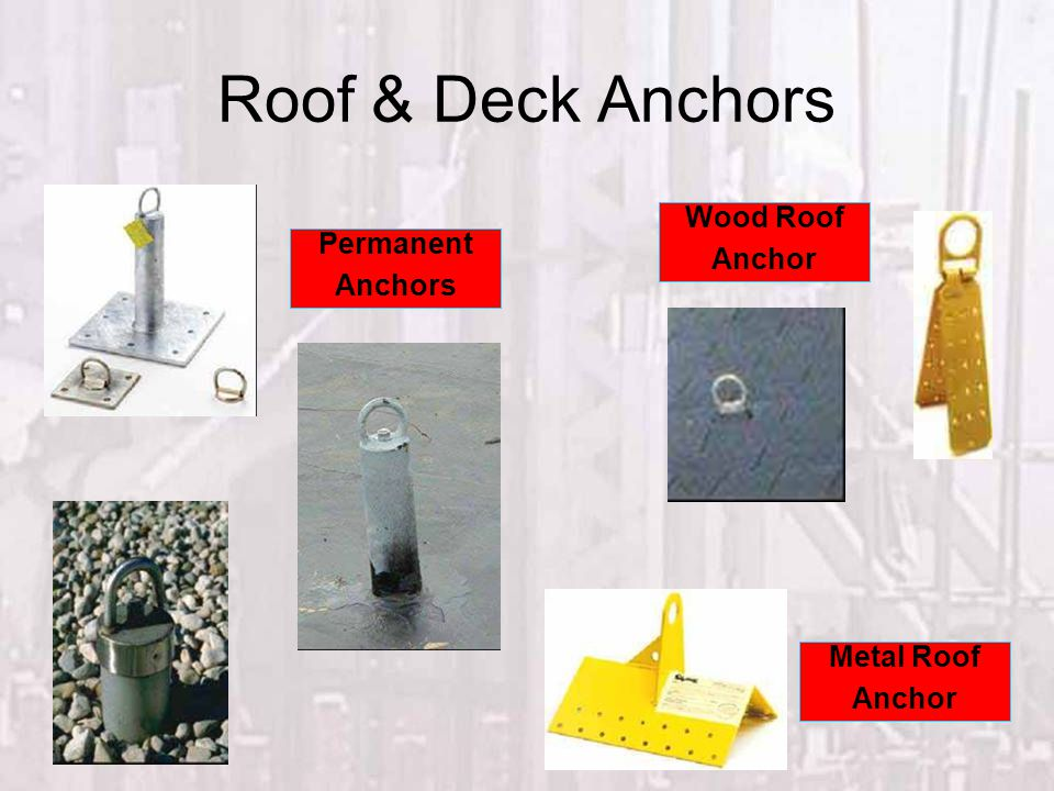 Roof & Deck Anchors Wood Roof Anchor Metal Roof Anchor Permanent Anchors