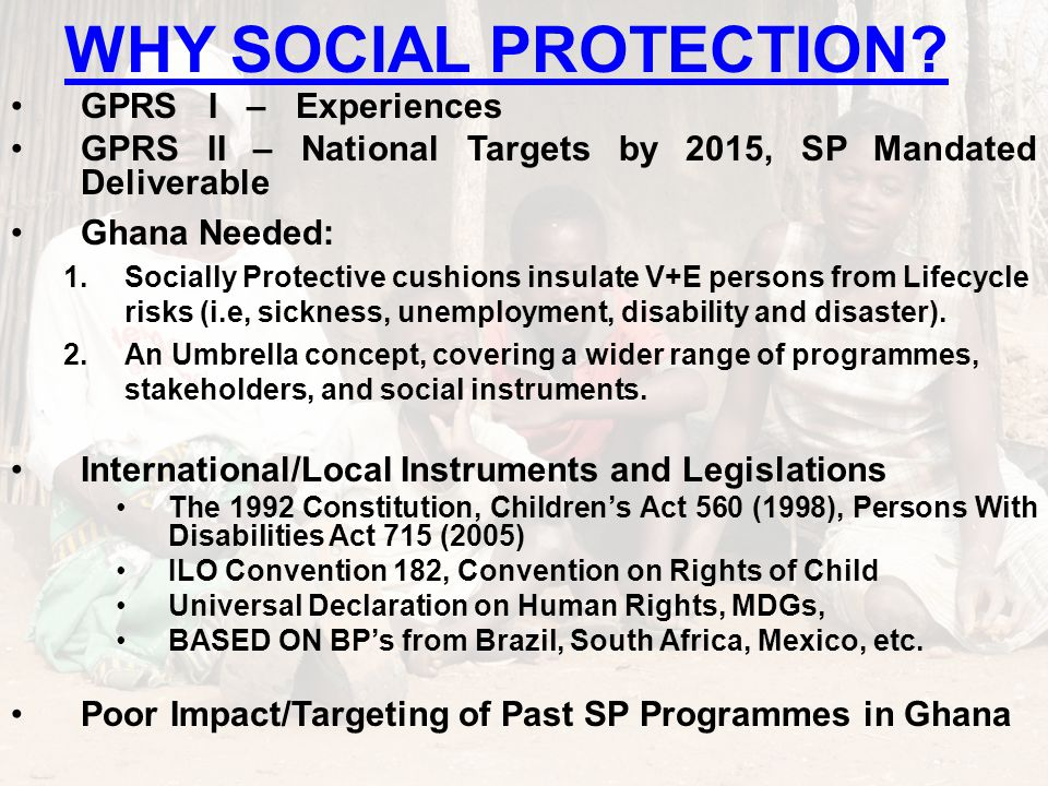 WHY SOCIAL PROTECTION.