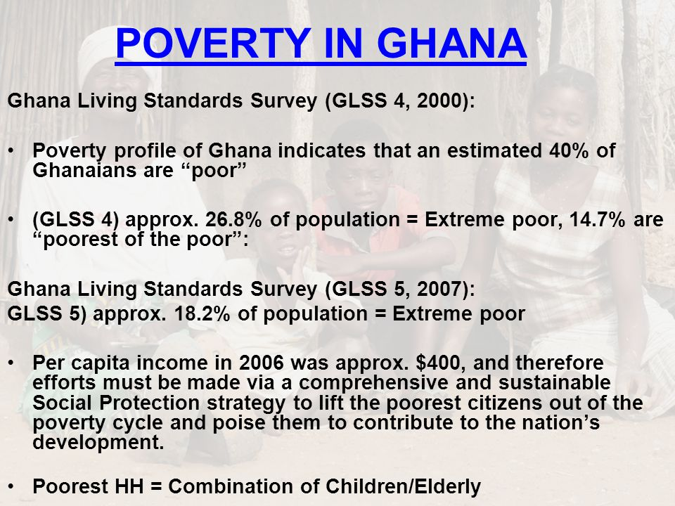 POVERTY MAP SOURCE: GSS GLSS 5 and Coulombe & Wodon (2007)