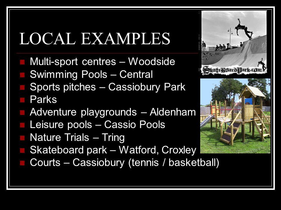 Recreation & Leisure Development Plans Responsibility of councils leisure services dept.