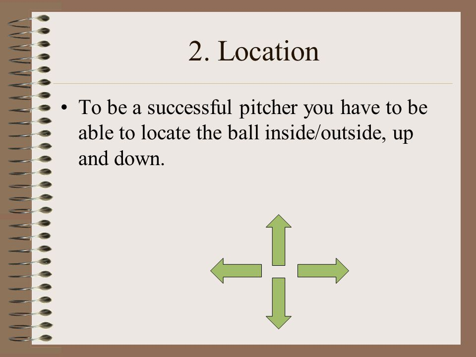 1. Sound delivery/Mechanics You cannot throw strikes consistently if you do not have sound mechanics. You also risk arm injury if you throw with bad m