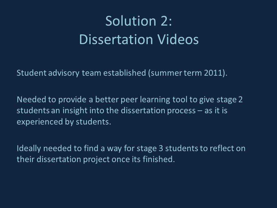 Student advisory team established (summer term 2011).