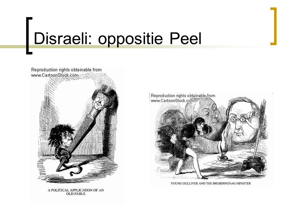 Disraeli: oppositie Peel