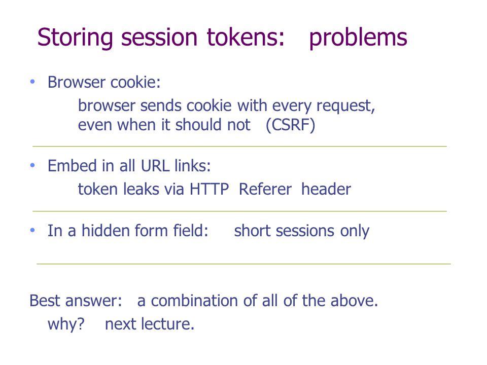 The HTTP referer header Referer leaks URL session token to 3 rd parties