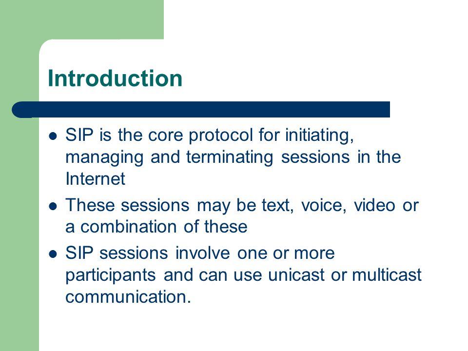 SIP Protocol Use Henning Schulzrinne's tutorial on SIP