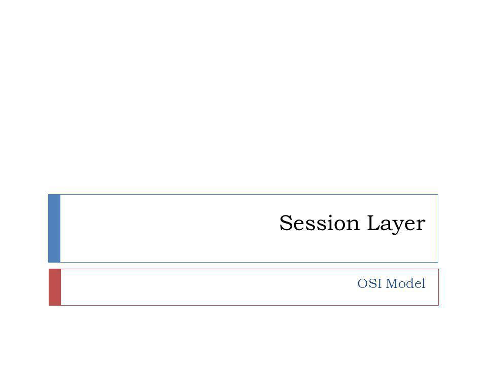 Session Layer OSI Model