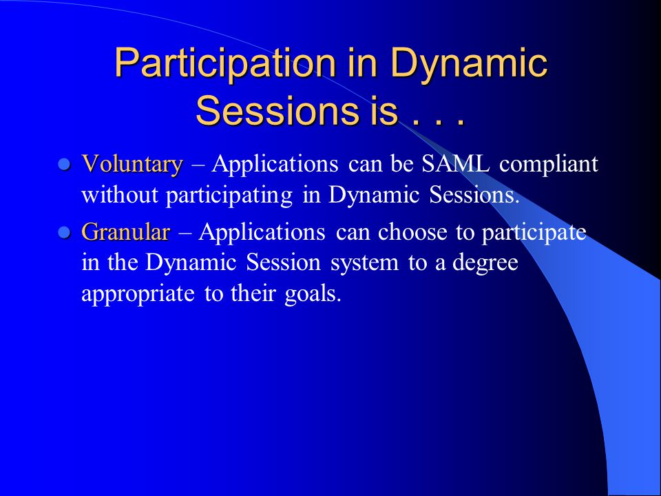 Participation in Dynamic Sessions is...