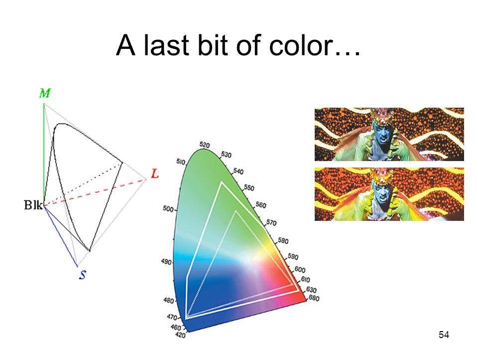 54 A last bit of color…