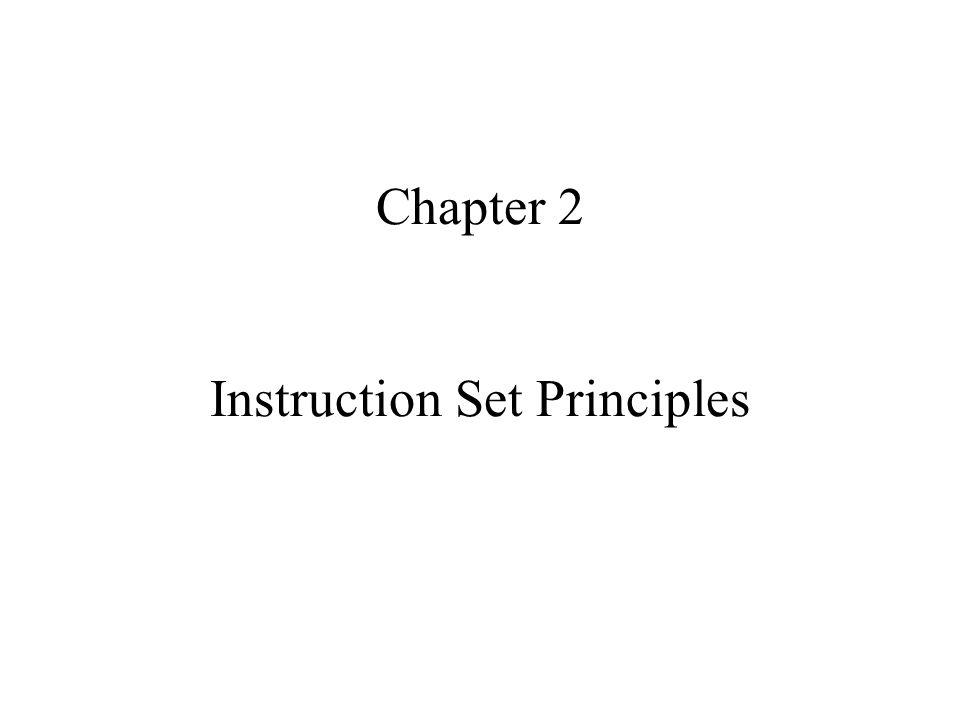 Chapter 2 Instruction Set Principles