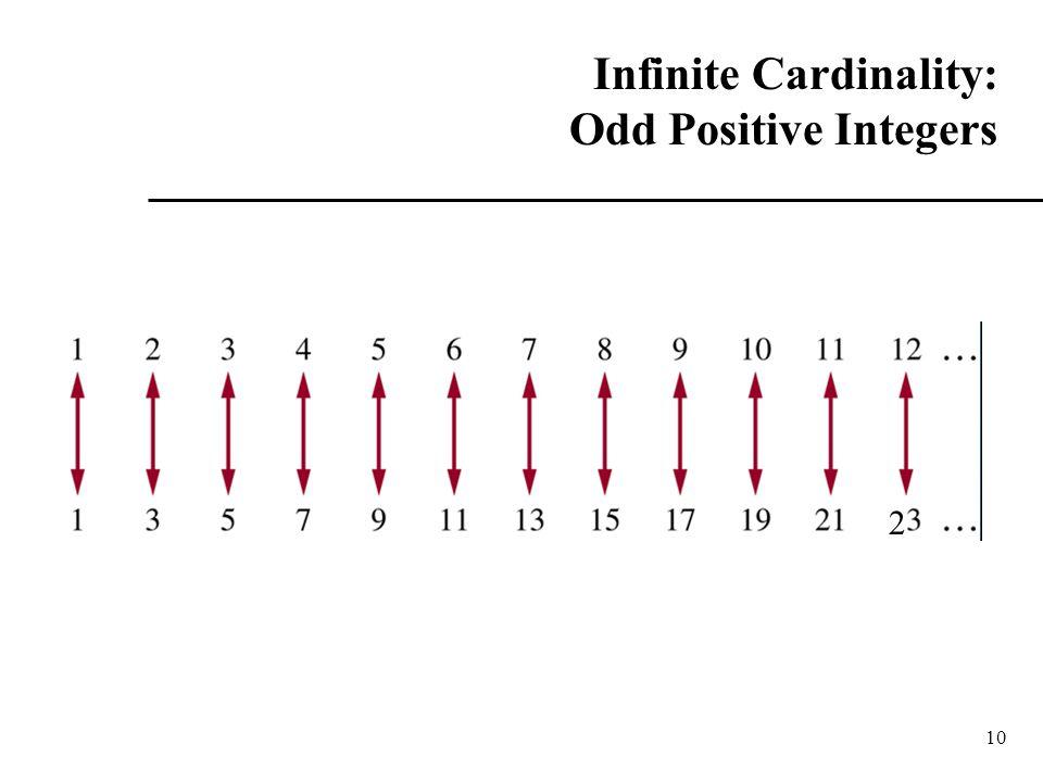 10 Infinite Cardinality: Odd Positive Integers 2