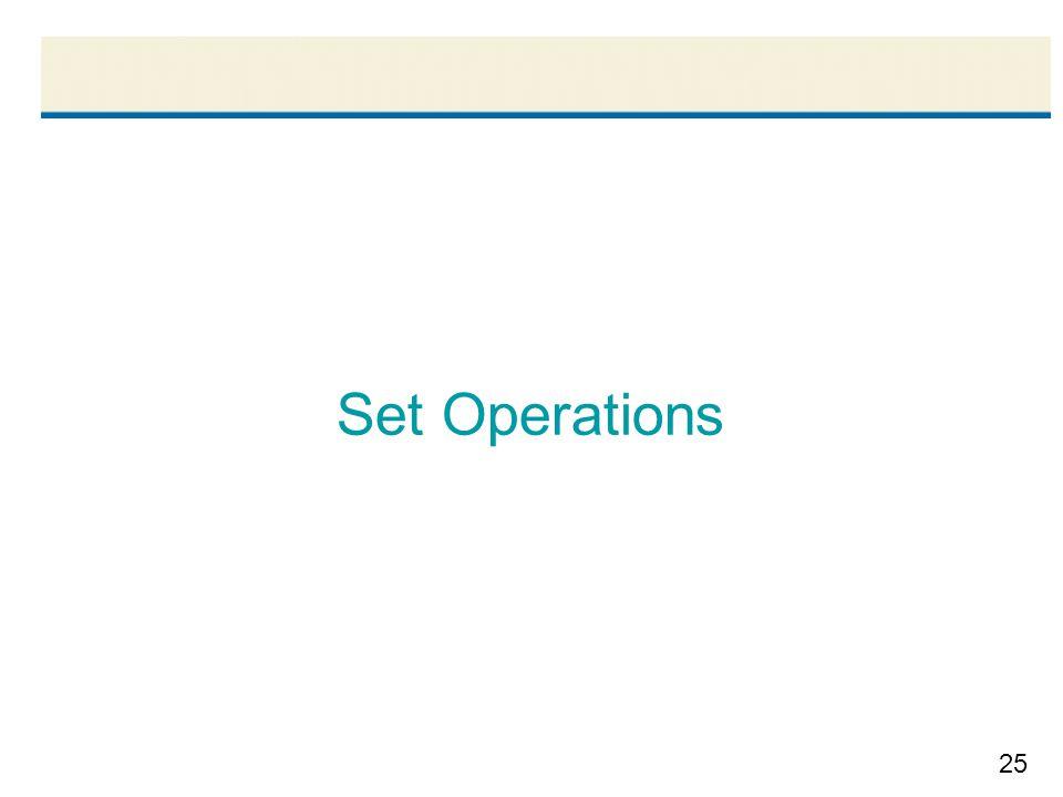 25 Set Operations