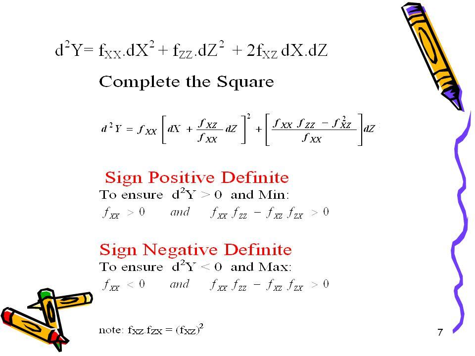 17 if  = 50Q A – 2Q A 2 + 50Q B – Q B 2 – ½ (Q A +Q B ) 2 F.O.C.
