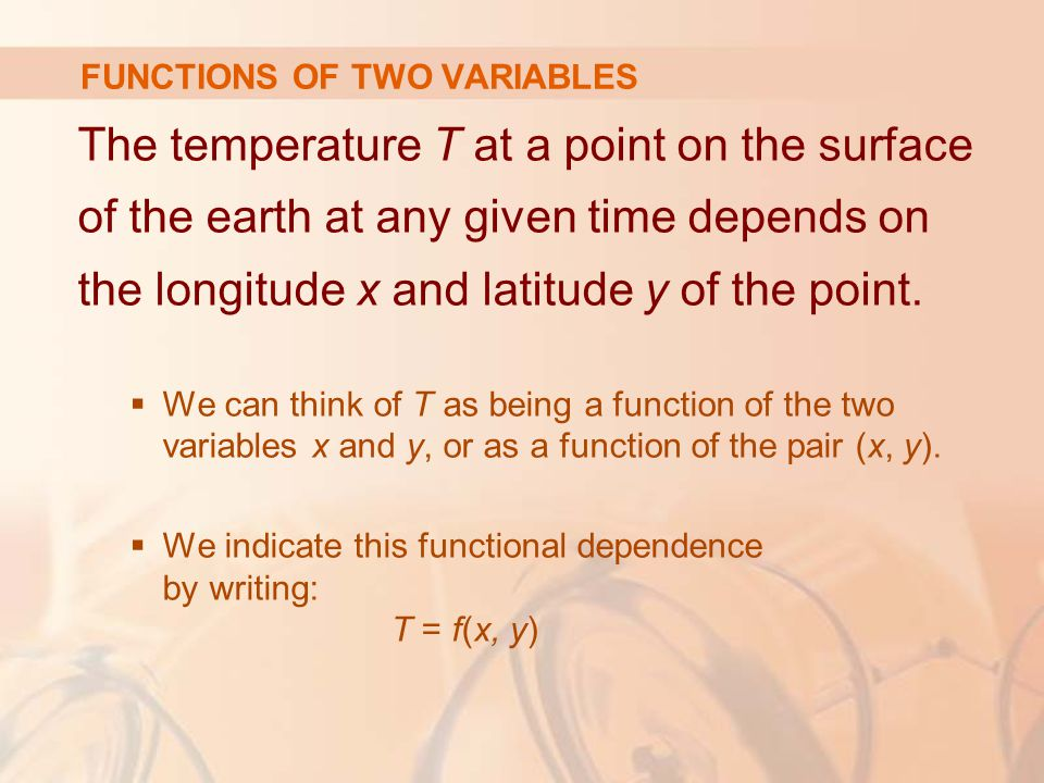 Find the level surfaces of the function f(x, y, z) = x 2 + y 2 + z 2  The level surfaces are: x 2 + y 2 + z 2 = k where k ≥ 0.
