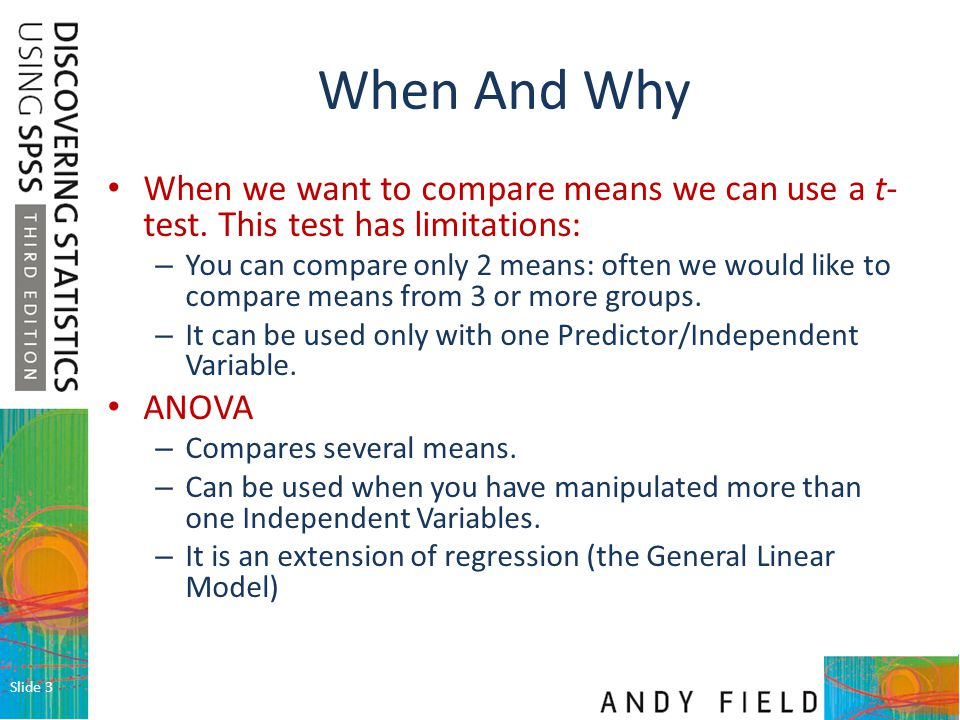 Slide 4 Why Not Use Lots of t-Tests.