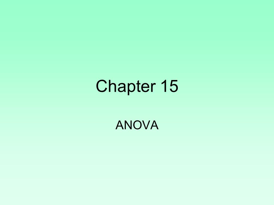 Test Statistic This method is called analysis of variance of ANOVA because we are comparing two sources of variance: the variance among the sample means and the variation expected by chance among the sample means when the null hypothesis is true.