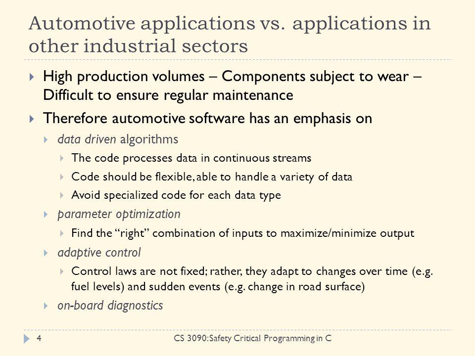 Automotive applications vs.