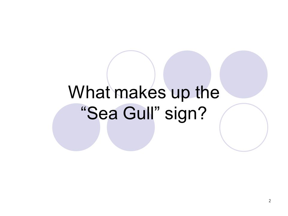 2 What makes up the Sea Gull sign