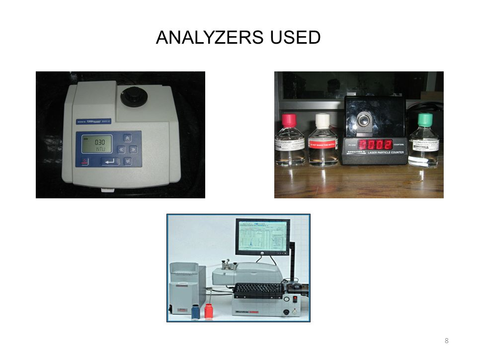 ANALYZERS USED 8