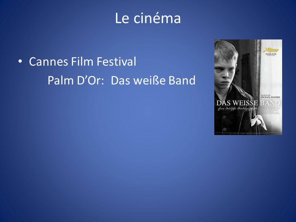 Le cinéma Cannes Film Festival Palm D'Or: Das weiße Band