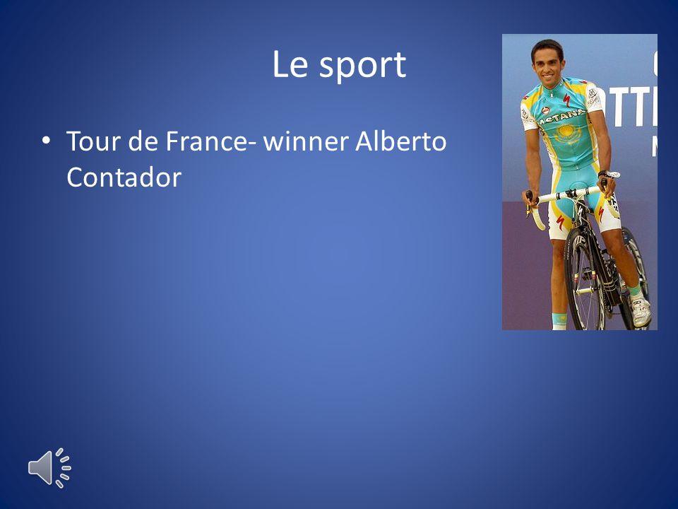 Le sport Tour de France- winner Alberto Contador