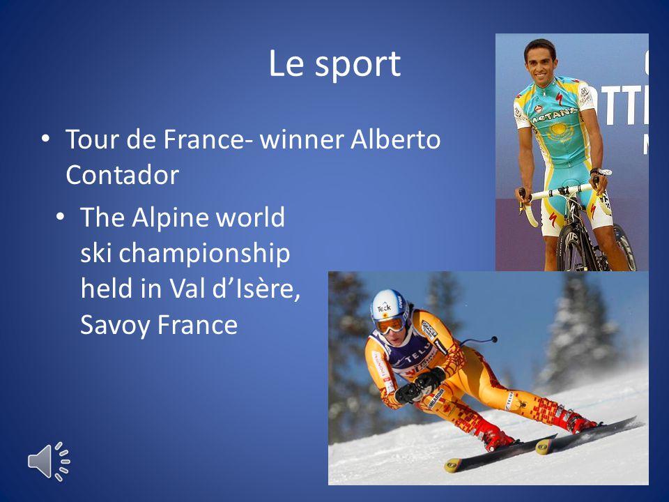 Le sport Tour de France- winner Alberto Contador The Alpine world ski championship held in Val d'Isère, Savoy France