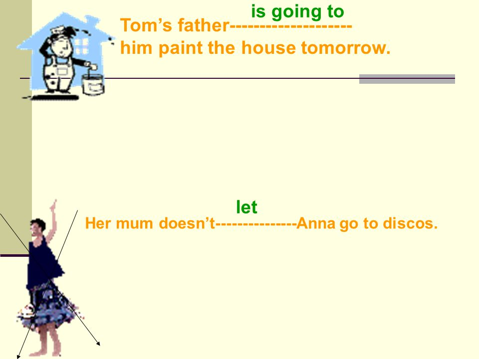 Her mum------------------Anne do the housework today. is making