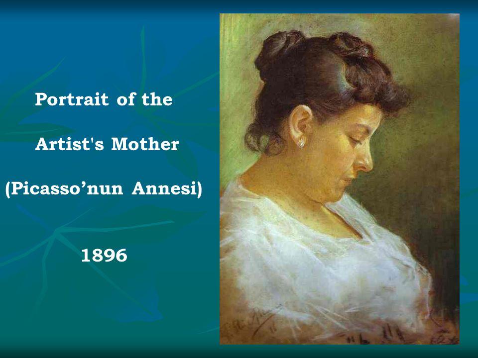 Portrait of the Artist's Mother (Picasso'nun Annesi) 1896