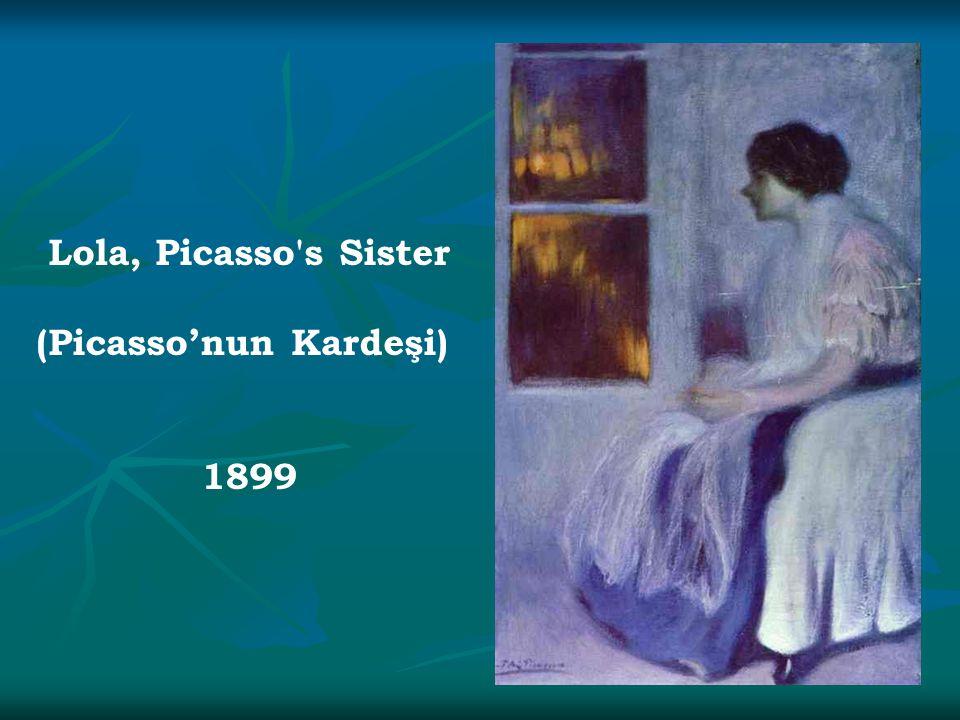 Lola, Picasso's Sister (Picasso'nun Kardeşi) 1899