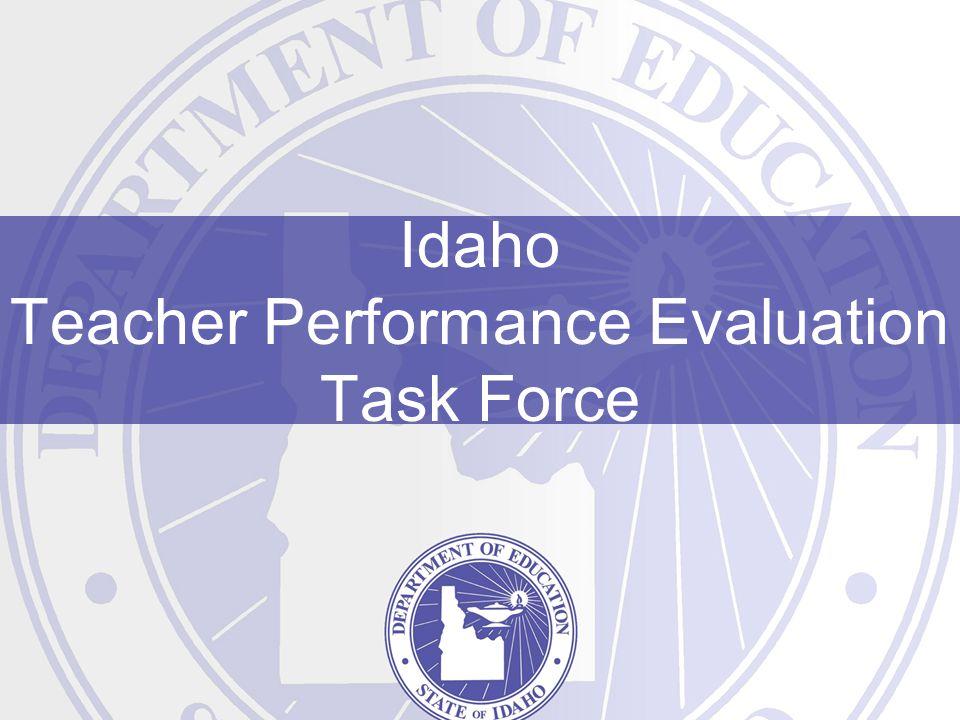 Idaho Teacher Performance Evaluation Task Force