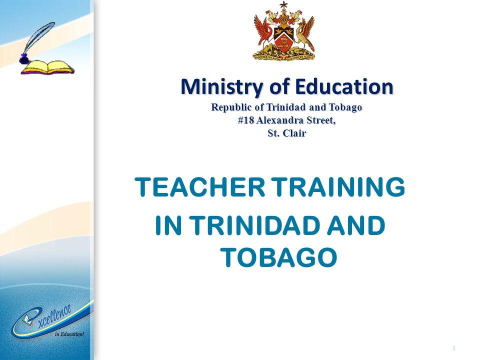 CONTEXT Trinidad and Tobago has a population of approximately 1.3 Million 533 Primary Schools 337 Government Assisted Schools 139 Government Schools 57 Private Schools Primary School Population – Approx.
