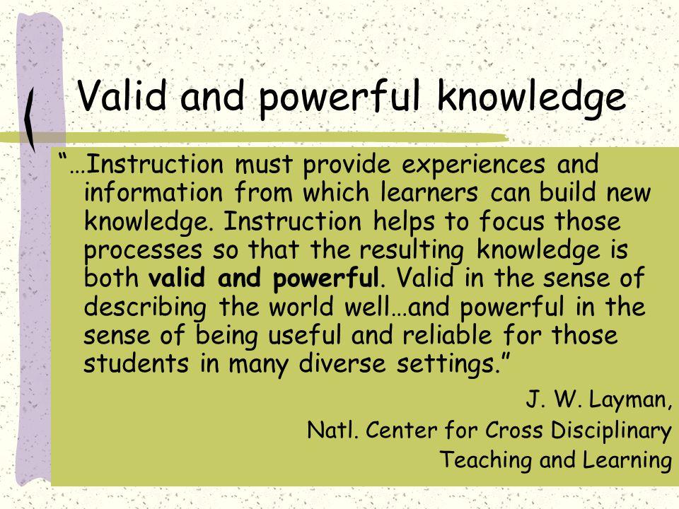 Dispenser of knowledge vs.