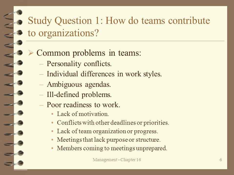 Management - Chapter 1627 Figure 16.3 An open-systems model of work team effectiveness.