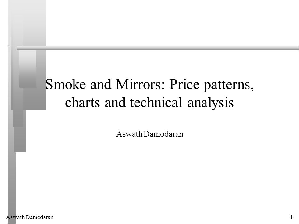 Aswath Damodaran1 Smoke and Mirrors: Price patterns, charts and technical analysis Aswath Damodaran