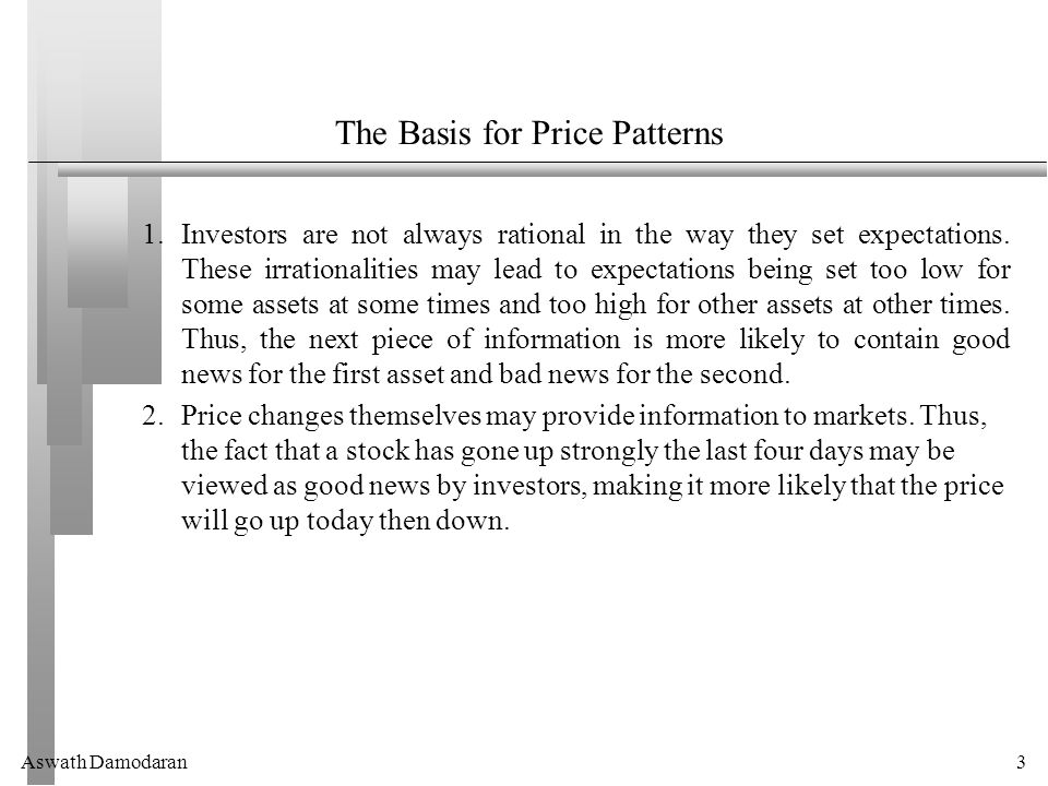 Aswath Damodaran3 The Basis for Price Patterns 1.Investors are not always rational in the way they set expectations.