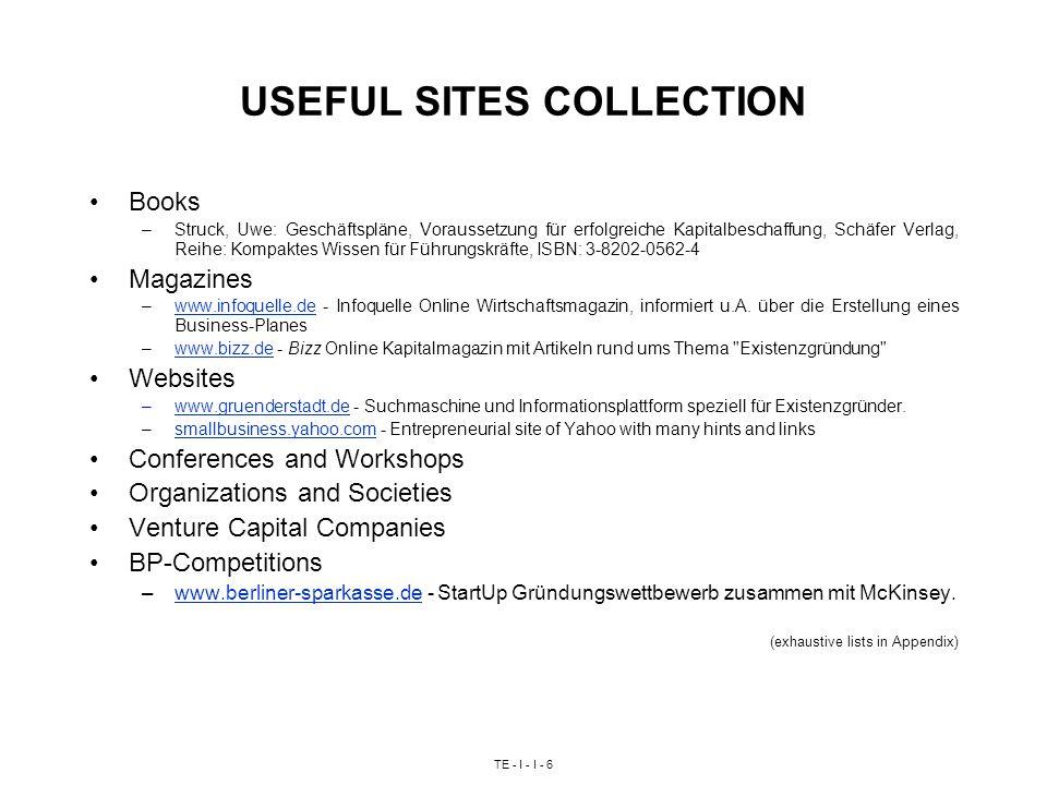 TE - I - I - 6 USEFUL SITES COLLECTION Books –Struck, Uwe: Geschäftspläne, Voraussetzung für erfolgreiche Kapitalbeschaffung, Schäfer Verlag, Reihe: K