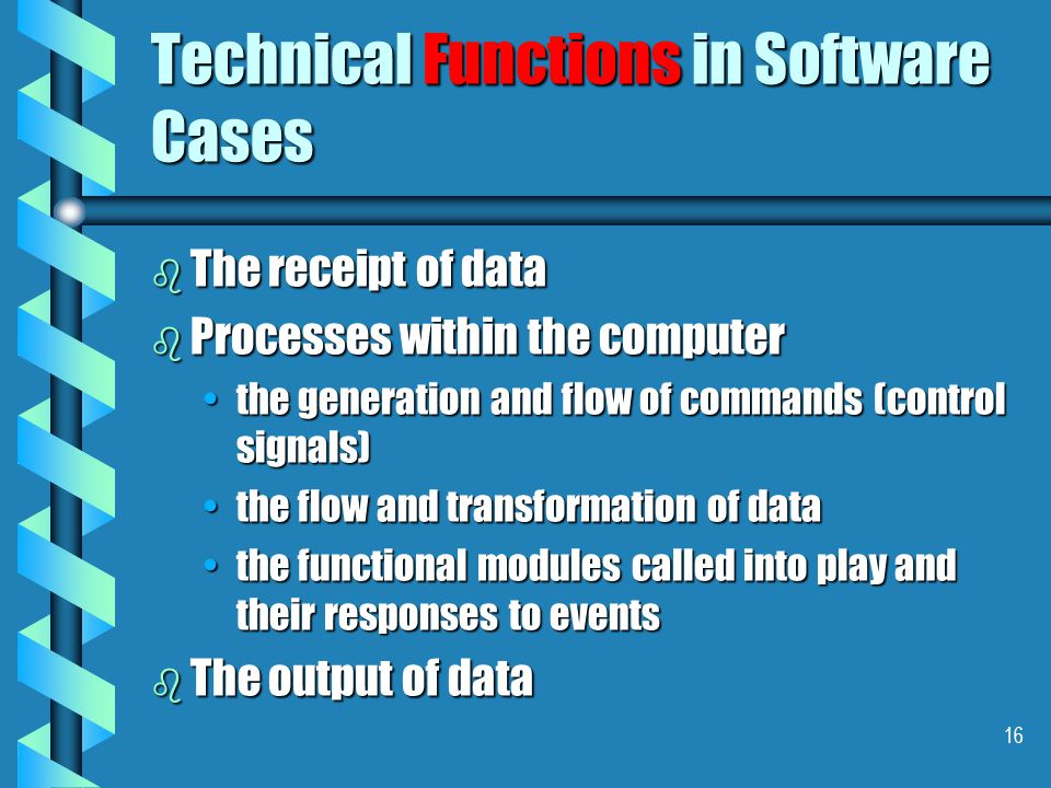 15 Technical Structures in Software Cases b The hardware.