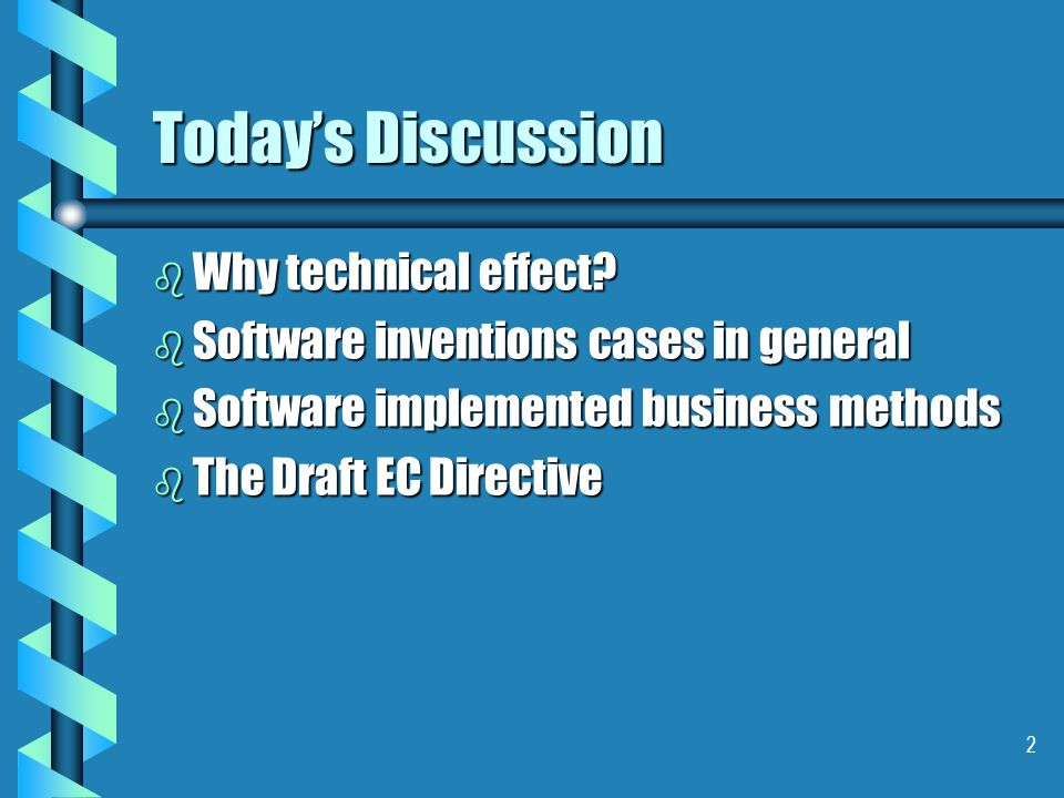 1 Demonstrating Technical Effect in Software Cases By Keith Beresford