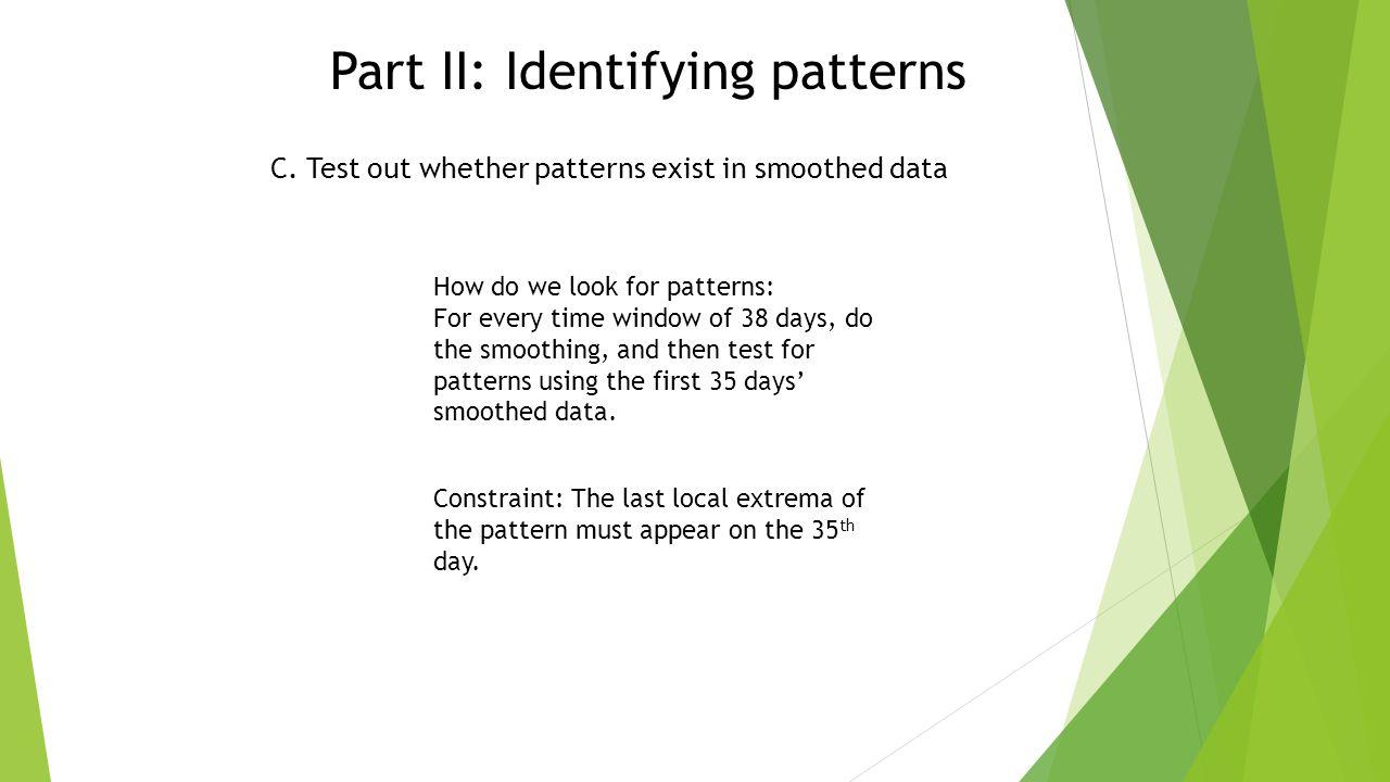 Part II: Identifying patterns C.