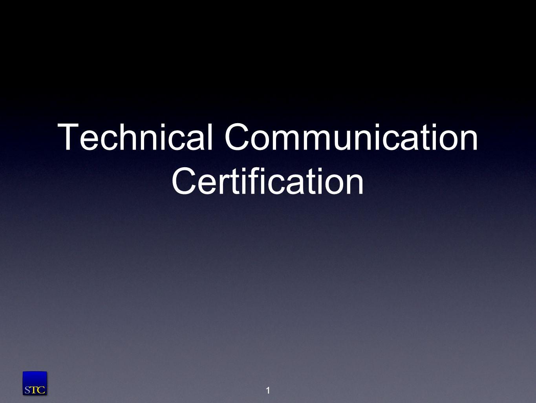 Technical Communication Certification 1