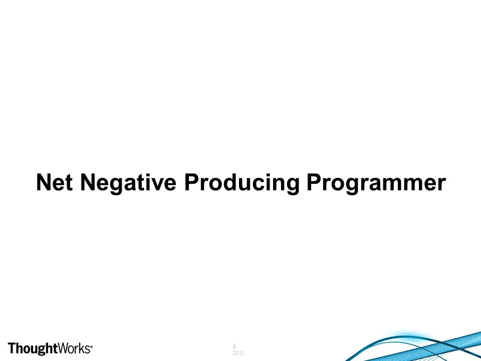© 2010 Net Negative Producing Programmer