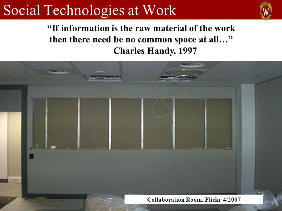 Social Technologies at Work Collaboration Room.