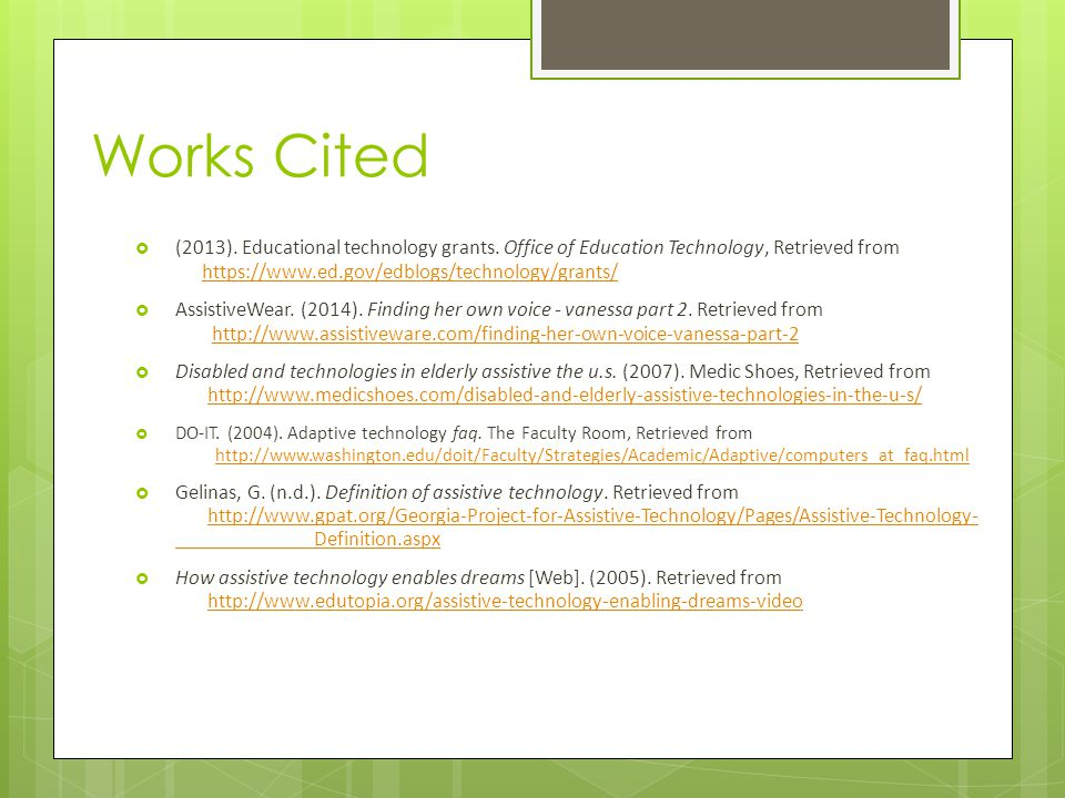  (2013). Educational technology grants.