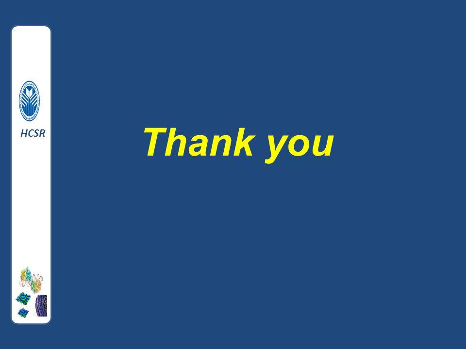 Thank you HCS HCSR