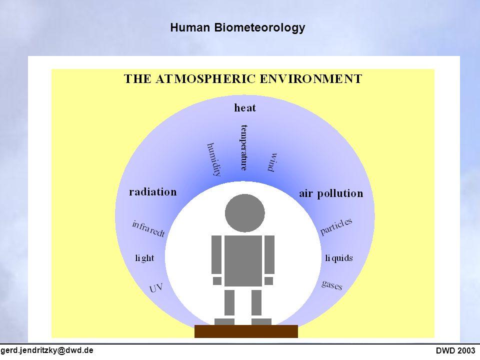 gerd.jendritzky@dwd.de DWD 2003 Human Biometeorology