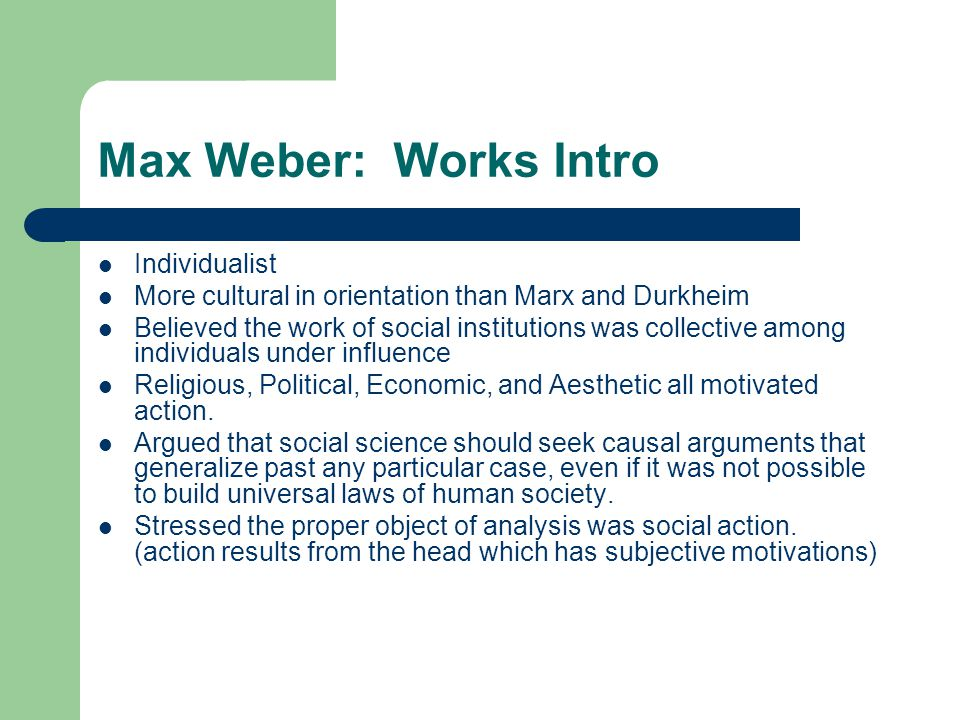 protestant ethic thesis max weber