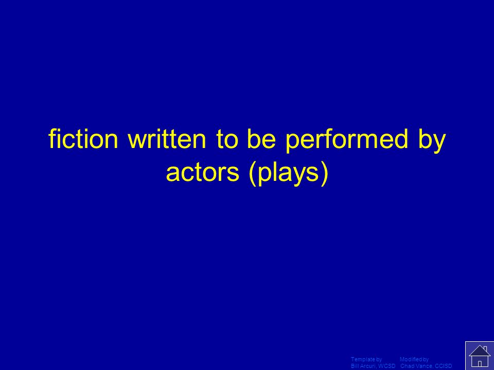 Template by Modified by Bill Arcuri, WCSD Chad Vance, CCISD What is a drama