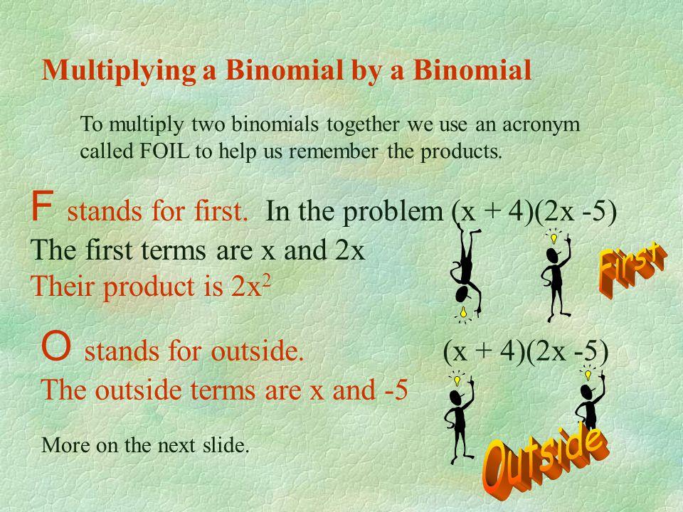 Example 4: (-3x 4 - 5x 2 + 1) (-3x 2 ) = -3x 4 (-3x 2 ) - 5x 2 (-3x 2 ) + 1 (-3x 2 ) 9x 6 + 15x 4 - 3x 2 Example 5: -2a( a 3 + a 2 - a + 4) = -2a( a 3